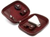 John Lobb Shoe Care Leather Travel Case - Mens - Burgundy