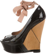 Lanvin Patent Leather Platform Wedges