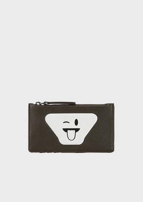 Emporio Armani Card Holder With Zip And Emoji Patch