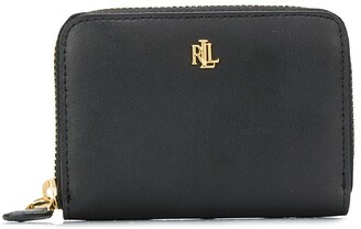Lauren Ralph Lauren Monogram Plaque Wallet