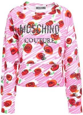 Moschino Printed French Cotton-terry Sweatshirt