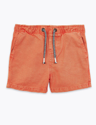 Marks and Spencer Pure Cotton Rugby Shorts (2-7 Yrs)