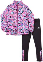 adidas Wind Jacket Set (Toddler) - Mosaic Print - 3T