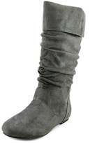Journee Collection Chely-3 Women Round Toe Synthetic Gray Knee High Boot.