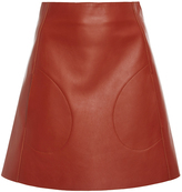 Khaite Stephania Leather Mini Skirt