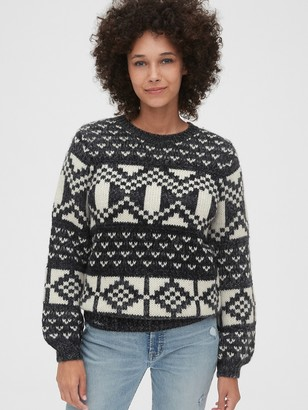 Gap Chunky Fair-Isle Crewneck Sweater
