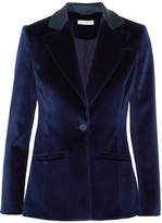 Altuzarra Acacia Cotton-blend Velvet Blazer - Midnight blue