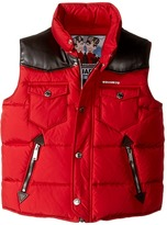 DSQUARED2 Puffer Vest with Leather Detail Boy's Vest