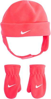 Nike Swoosh Trapper Hat & Mittens Set