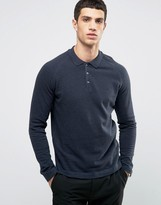 Selected Long Sleeve Polo With Raglan Sleeve