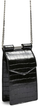 Topshop North South Faux Leather Crossbody Bag