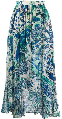 Twin-Set Paisley Print Maxi Skirt