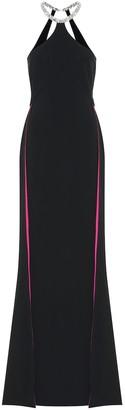 Stella McCartney Elina embellished stretch-crepe gown