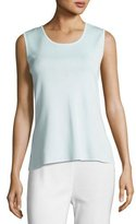 Misook Scoop-Neck Tank, Light Blue