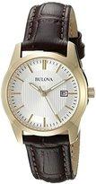 Bulova Women's 97M114 Analog Display Quartz Brown Watch