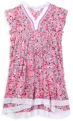 Poupette St Barth Little Girl's & Girl's Sasha Lace Trimmed Mini Dress