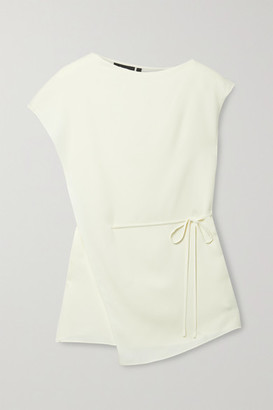 Theory Layered Silk-crepe Top - Ivory