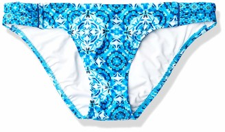 Laundry by Shelli Segal Women's Mayan Escape Tab Side Hipster Bikini Bottom