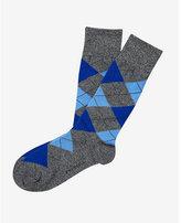 Express marled argyle dress socks