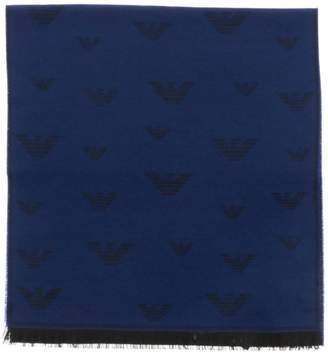 Emporio Armani Scarf Scarf In Blended Wool With All Over Logo