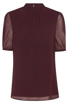 Dorothy Perkins Womens Billie & Blosson Brown Puff Sleeve Blouse, Brown