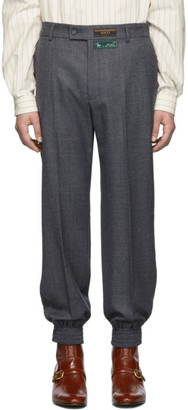 Gucci Grey Sharkskin Classic Trousers