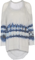 Raquel Allegra Tie-Dyed Cotton-Blend And Gauze Top