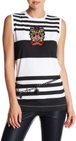 Love Moschino Crest Patch Colorblock Tank