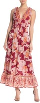 Z&L Europe Waist Cutout V-Neck Maxi Dress