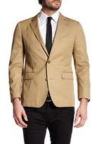 Bonobos Fairfax Beige Woven Two Button Notch Lapel Cotton Standard Fit Jacket