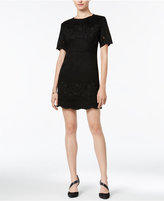 Bar III Embroidered Faux-Suede Dress, Only at Macy's