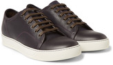 Lanvin - Cap-toe Grained-leather Sneakers