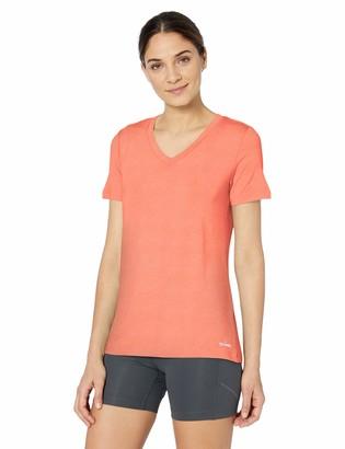 Spalding Women's Micro Stripe Short Sleeve V Neck Tee