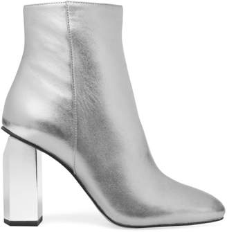 MICHAEL Michael Kors Petra Metallic Leather Ankle Boots
