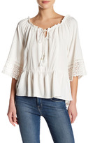 Democracy Off-the-Shoulder 3/4 Bell Sleeve Blouse