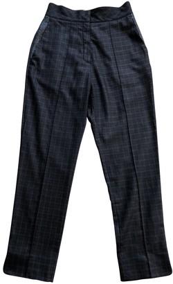 Roksanda Ilincic Grey Wool Trousers for Women