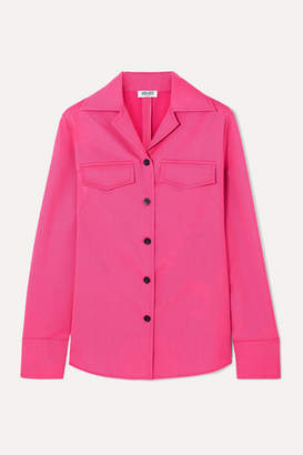 Kenzo Wool-blend Gabardine Shirt - Fuchsia