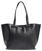 Emperia Faux Leather Tote - Black
