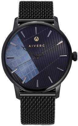 Limited Edition Luxury Analog Watches By Aiverc Ontario Black Mesh With 40Mm Watch Band For Men