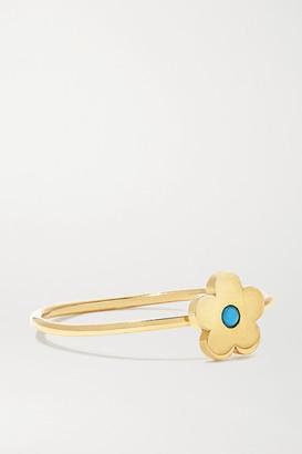 Jennifer Meyer Mini Daisy 18-karat Gold Turquoise Ring - 5