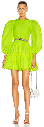 Valentino Dress Pleated Mini Dress in Giallo Fluo | FWRD