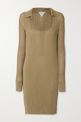 Bottega Veneta Ribbed Silk Dress - Beige