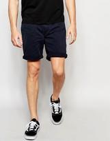 Pull&bear Denim Shorts In Navy In Regular Fit