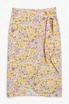 Thumbnail for your product : Monki Wrap midi skirt