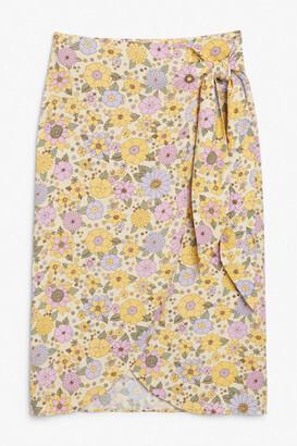 Monki Wrap midi skirt