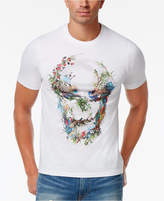 Sean John Men's Big & Tall Floral Skull Graphic-Print Cotton T-Shirt