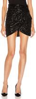 Saint Laurent Sequin Mini Skirt in Black   FWRD