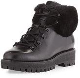 MICHAEL Michael Kors Putnam Shearling Fur Hiking Boot, Black