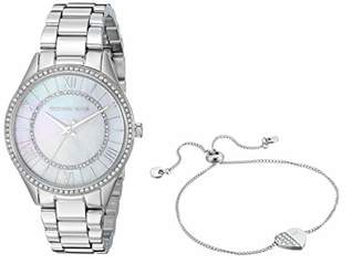 Michael Kors Women's Lauryn Quartz Watch with Stainless Steel Strap