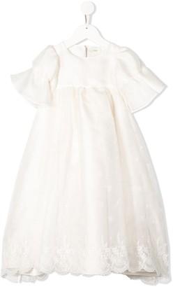 Fendi Lace Trim Dress